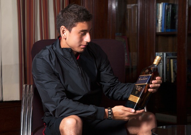 johnnie walker for HOMBRE Magazine 4  Alejandro Bedoya gifts teammates with bottle of Johnnie Walker Blue Label