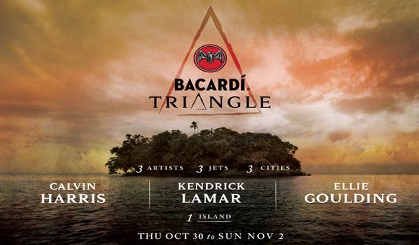 BACARDÍ-Triangle-Calvin-Harris-Kendrick-Lamar-Ellie-Goulding-acid-stag