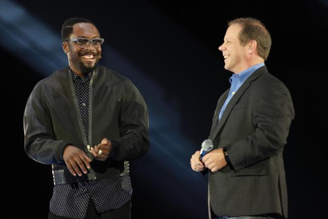 Jeff Bradley from AT&T with will.i.am
