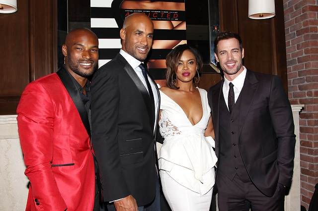 The Cast of Addicted: Tyson Beckford. Boris Kodjoe, Sharon Leal and William Levy