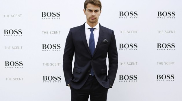 Theo James BOSS THE SCENT Event for HOMBRE Magazine