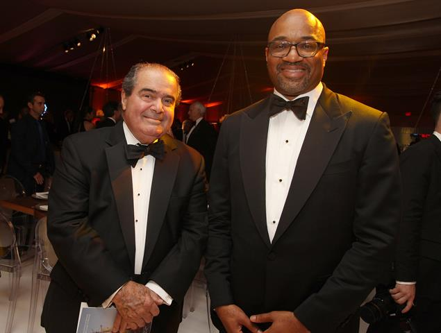 Associate Justice of the Supreme Court Antonin Scalia and Rodney Williams EVP spirits Moet Hennessy