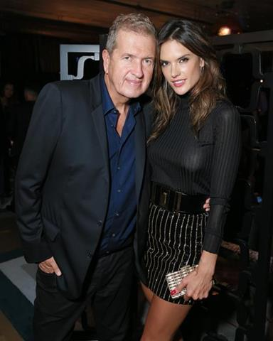 Photographer Mario Testino with Alessandra Ambrosio